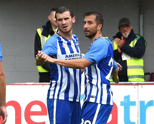 Brighton and Hove Albion hit Crawley Town for six