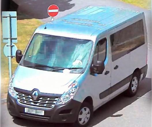 The Argus: The van allegedly driven by Raymond Hoadley was seen on CCTV near the murder scene in Eastbourne