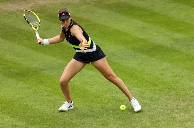 Johanna Konta in action at the Nature Valley Classic at Edgbaston Priory Club, Birmingham today