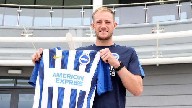 Matt Clarke after signing for Albion. Picture by Geoff Penn/BHAFC