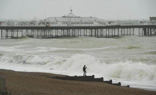 The Palace Pier during a storm