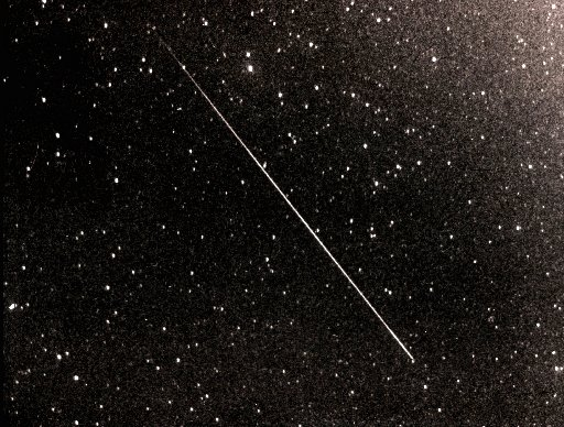 SHOOTING STAR: A typical Perseid meteor streaking across the sky. Image courtesy of Dr John Mason