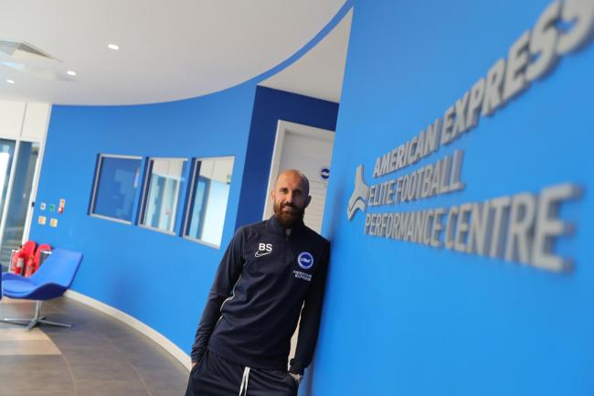 Bruno at the Lancing training headquarters today. Picture BHAFC