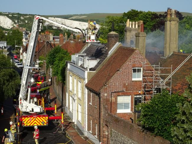 Fire in Lewes