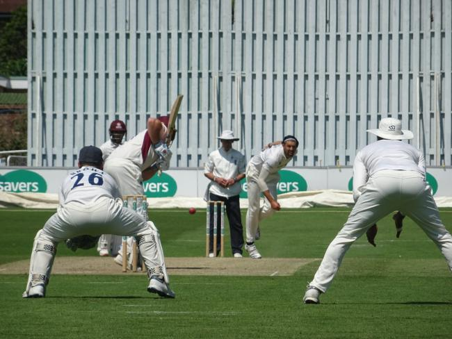 Sussex's David Wiese bowling at Hove today. Picture: Sussex Cricket