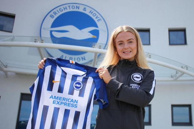 Matilde Skovsen has signed a one-year deal with Albion. Picture: BHAFC