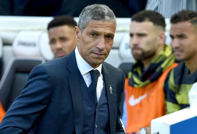 Photo by Liz Finlayson/Vervate.Brighton and Hove Albion v Manchester City at the Amex - Last game of the season Brighton manager Chris Hughton before kick off.