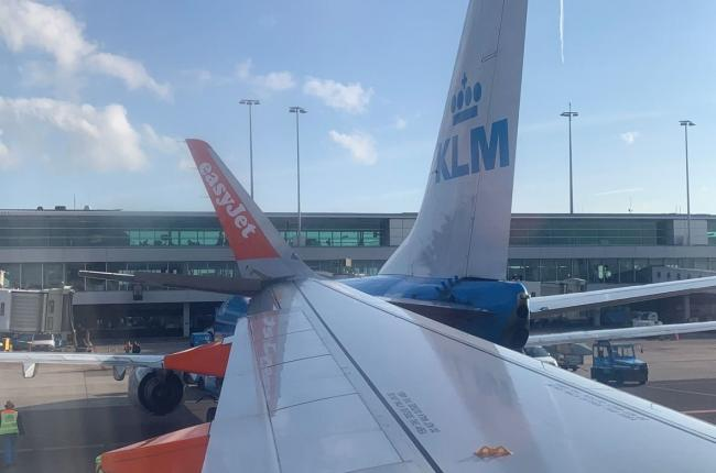 Gatwick-bound EasyJet plane collides with another aircraft