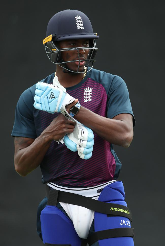 Jofra Archer at nets for England