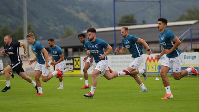 Young Albion players were on the Austrian pre-season training camp and are set for game time tonight. Picture: Paul Hazlewood/BHAFC