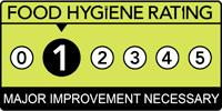 Munch Box/Naz's Burgers - Food Hygiene Rating 1 - Major Improvement Necessary