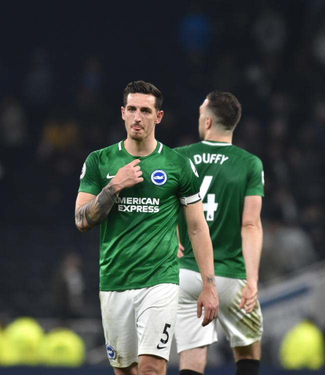 Lewis Dunk is an alleged target of Leicester City