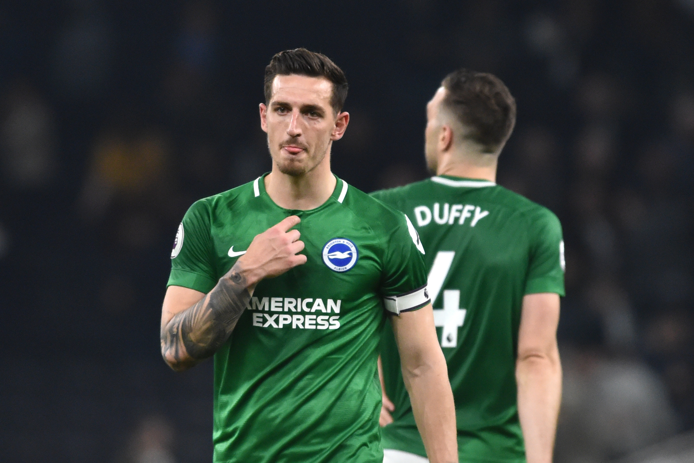 Albion have had no contact with Leicester about Lewis Dunk