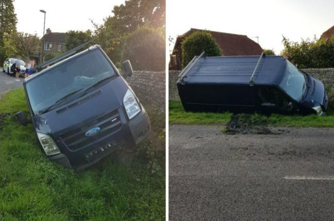 A drink driver crashed and ran off in Bognor