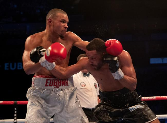 Chris Eubank Jr in action against James DeGale. Picture: Lawrence Lustig