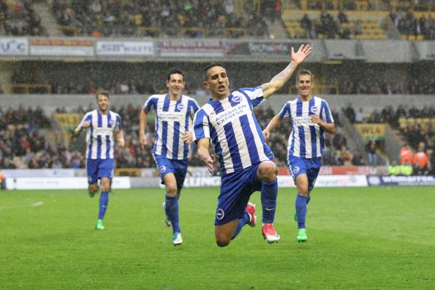 Anthony Knockaert celebrating against Wolves