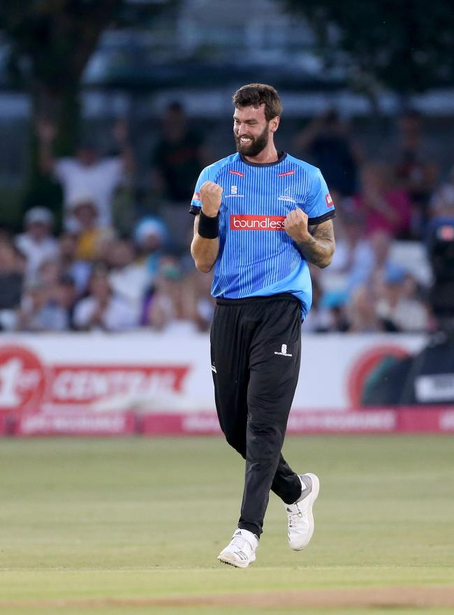 Reece Topley has been having pain killers to play. Picture: SNAP