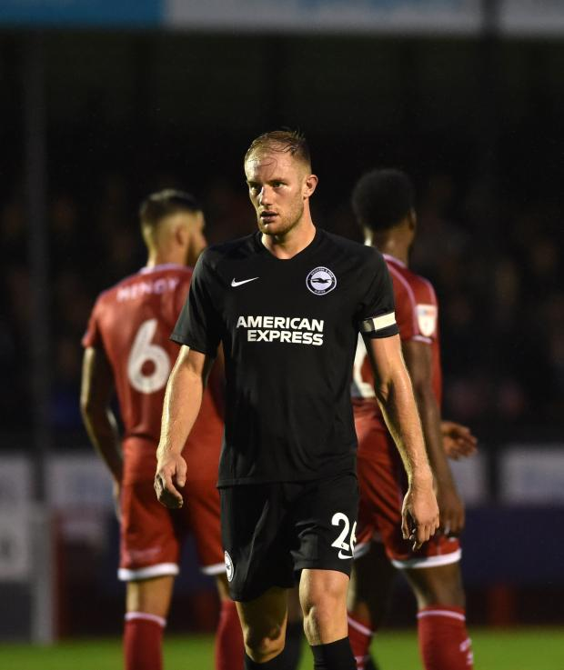 The Argus: Matt Clarke on Albion duty during pre-season