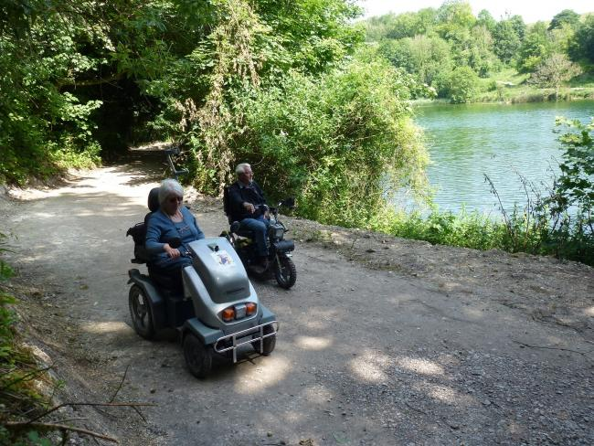 Disabled Ramblers enjoy Swanbourne Lake's new path