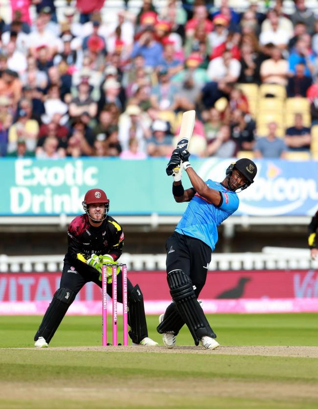 Delray Rawlins carried Sussex over the line with a timely innings