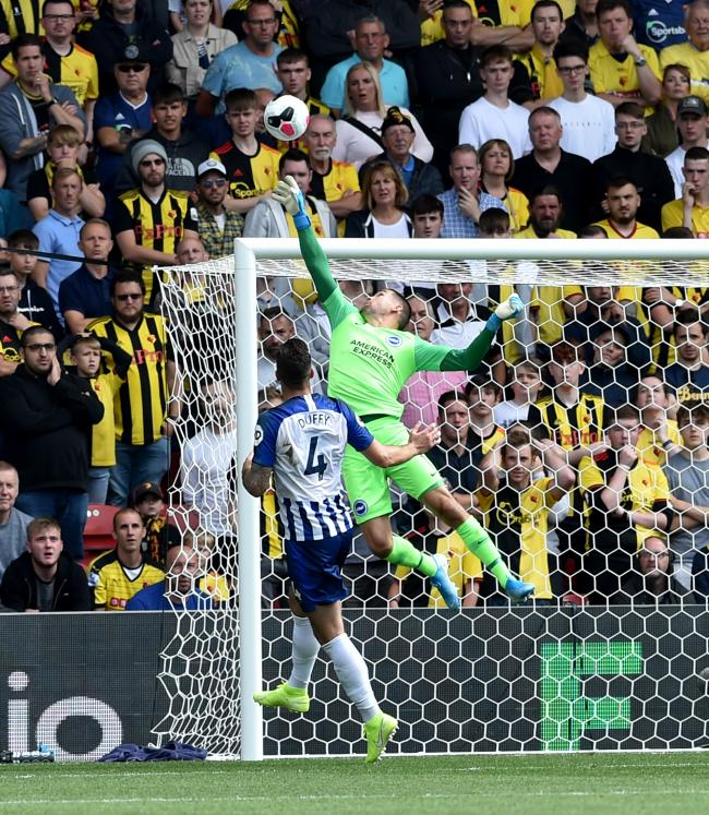 Cricket fan Mathew Ryan did not make any costly slips against Watford