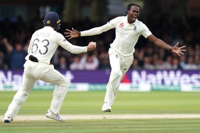 Jofra Archer celebrates a wicket at Lord's