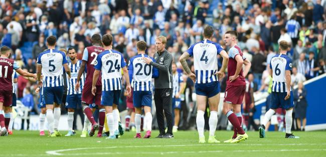 Graham Potter with his Albion players