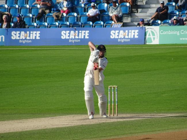 Sussex knocked off the runs after a sticky start at Hove after being set 145 to win