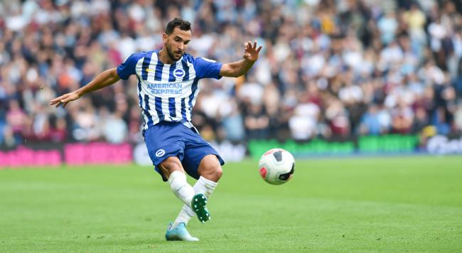 Martin Montoya on the attack for Albion
