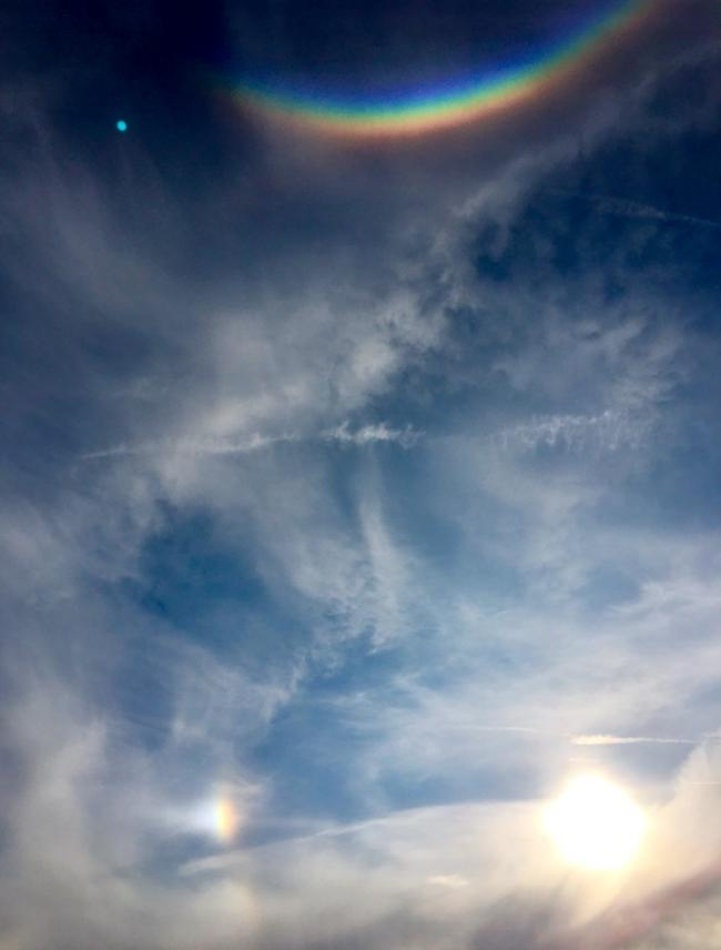 Did you see the sky 'smiling' above Brighton yesterday in natural phenomenon?