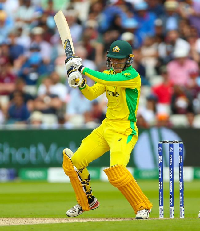 Australian World Cup star Alex Carey cracked a half-century for Sussex