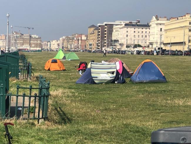 Tents on Hove Lawns