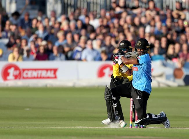 Delray Rawlins starred with bat and ball for Sussex. Picture by Stephen Lawrence/Sussex Cricket