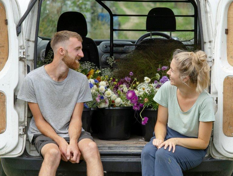 A great idea, Petal – couple grow own flowers for wedding