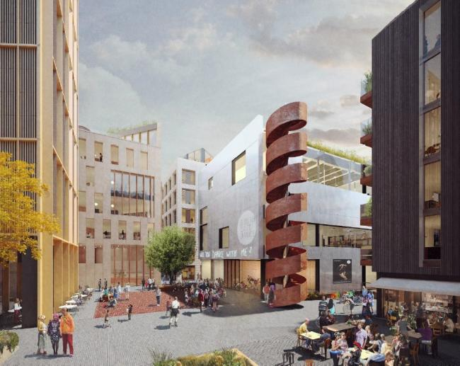 The Circus street development, showing the Dance Space on the right