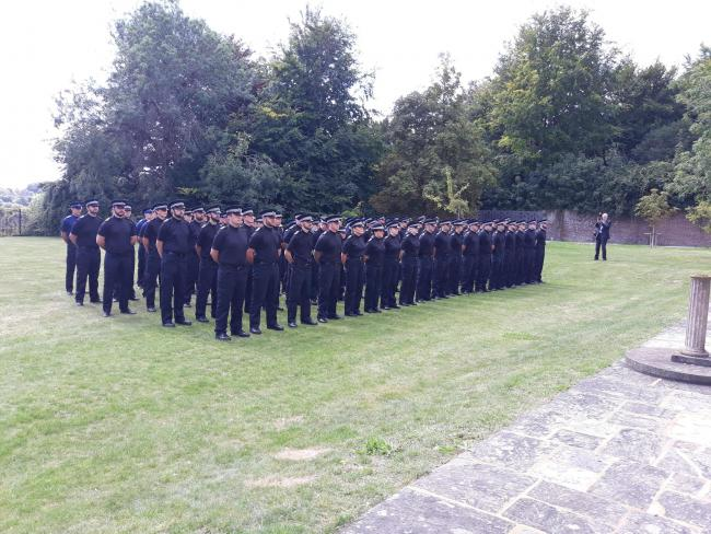 Policing Minister Kit Malthouse met recruits in Sussex