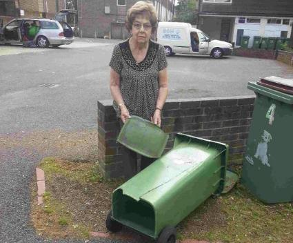 Five years ago today: Pensioner finds man in his boxers stuck in her wheelie bin