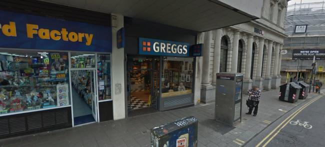 Greggs in North Street, Brighton