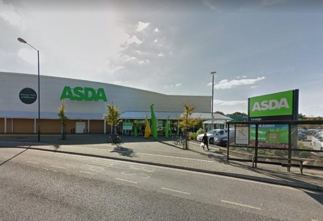 Asda in Pegler Way, Crawley, picture from Google