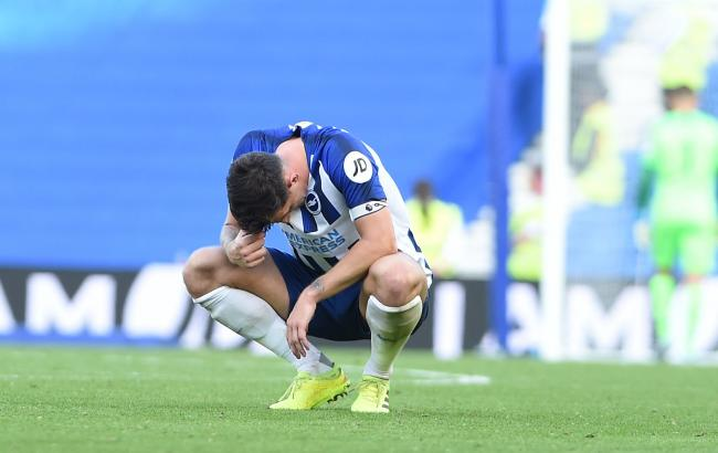 Lewis Dunk looks dejected at the end