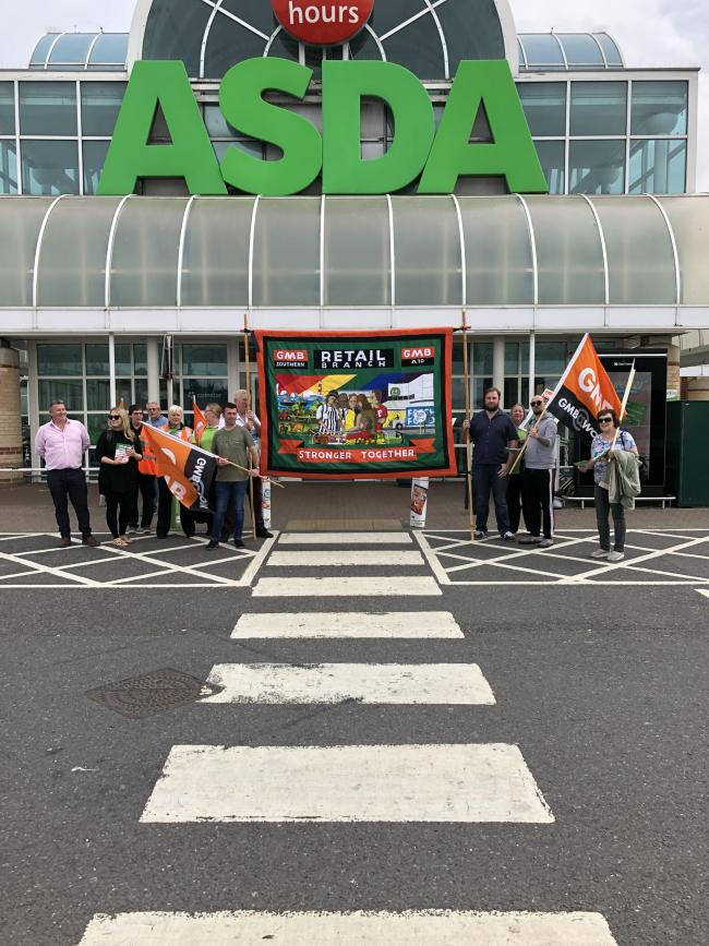 Asda workers protest as they 'face sack before Christmas'