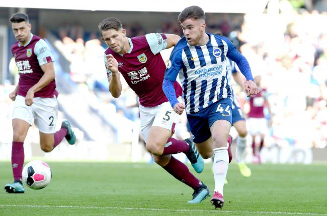 Aaron Connolly in action against Burnley