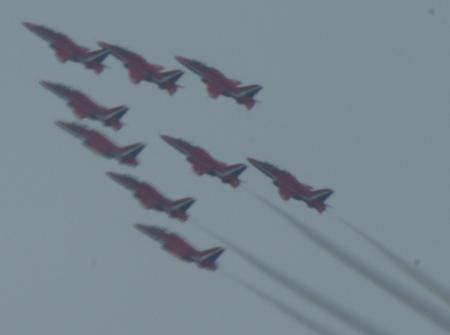 On Friday morning, the Red Arrows flew over Brighton to mark the start of the WhiteAir festival. Here are some of the pictures taken by readers.