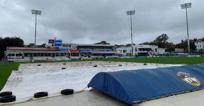 Play is over for the day - and the season - at Hove