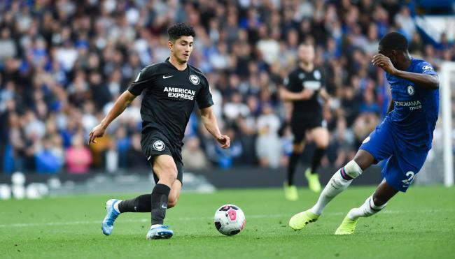 Steven Alzate in action at Chelsea