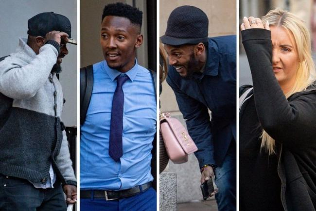 Prince Rowe, Tyrone Coleman, Nathan Coleman and Natalie Wood, pictured outside Bristol Crown Court (Image: PA)