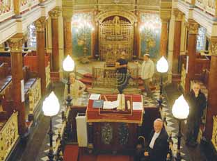 Visitors take a look inside the Middle Street Synagogue, Brighton, which was designed by the local architect Thomas Lainson. Photo by Kate Howell