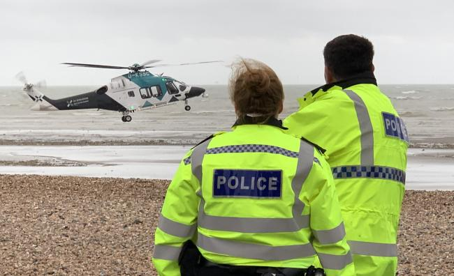 Seafront road closed after 'serious' crash near pier - air ambulance on scene