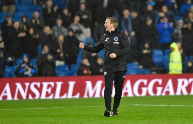 Albion manager Graham Potter has been nominated for the Premier League manager of the month. Picture: Simon Dack.