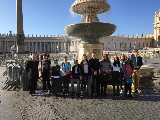 Cardinal Newman pupils on trip to the Vatican